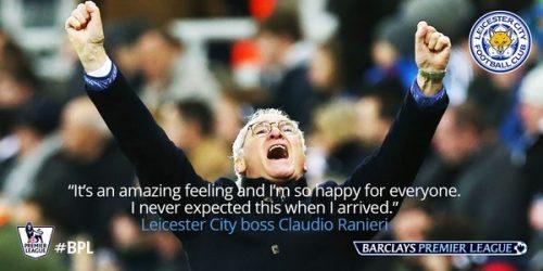 Claudio Ranieri, Pelatih Leicester City