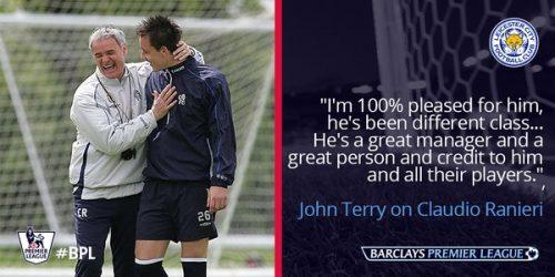 Claudio Ranieri dan John Terry
