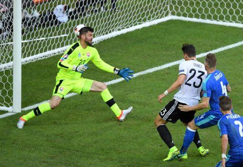 Gol Mario Gomez ke Slovakia (Source : Twitter @uefaeuro)