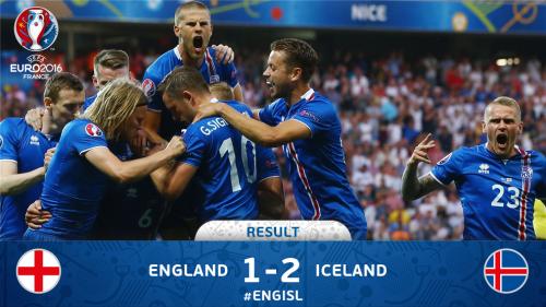 Inggris vs Islandia 1-2 (Sumber: twitter @uefaeuro)