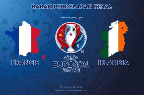 Perdelapan Final Prancis vs Irlandia