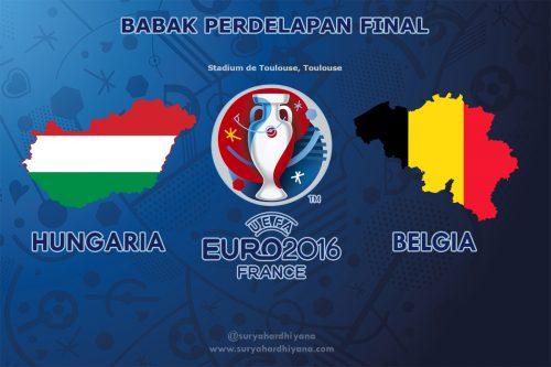 Perdelapan Final Euro 2016 Hungaria vs Belgia