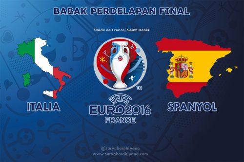 Perdelapan Final Italia vs Spanyol