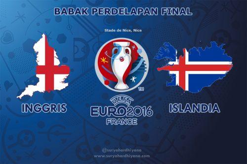 Perdelapan Final Inggris VS Islandia