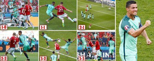 Portugal 3-3 Hungary (Sumber: http://www.totalsportek.com/highlights/portugal-vs-hungary-euro-2016/)