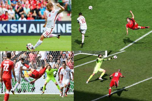 Swiss vs Polandia (Sumber: twitter @uefaeuro)